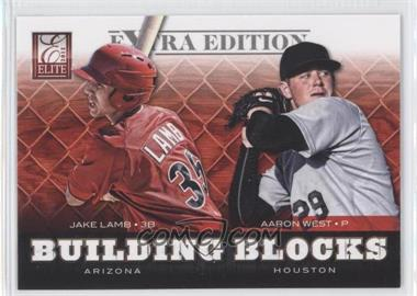 2012 Elite Extra Edition - Building Blocks Dual #11 - Aaron West, Jake Lamb