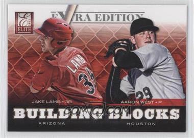 2012 Elite Extra Edition - Building Blocks Dual #11 - Aaron West, Jake Lamb