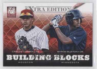 2012 Elite Extra Edition - Building Blocks Dual #15 - Byron Buxton, Carlos Correa