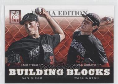 2012 Elite Extra Edition - Building Blocks Dual #3 - Lucas Giolito, Max Fried