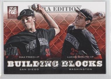 2012 Elite Extra Edition - Building Blocks Dual #3 - Lucas Giolito, Max Fried