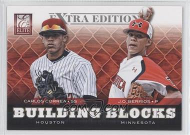2012 Elite Extra Edition - Building Blocks Dual #7 - J.O. Berrios, Carlos Correa