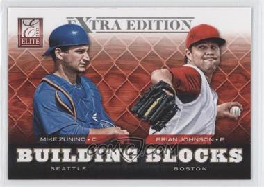 2012 Elite Extra Edition - Building Blocks Dual #8 - Brian Johnson, Mike Zunino