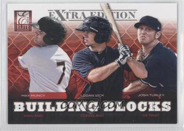 2012 Elite Extra Edition - Building Blocks Trio #1 - Max Muncy, Josh Turley, Logan Vick