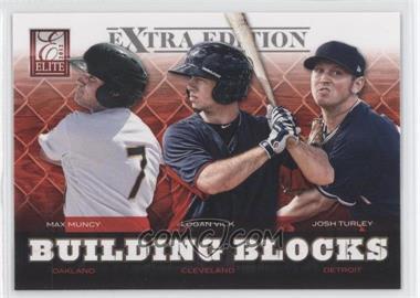2012 Elite Extra Edition - Building Blocks Trio #1 - Max Muncy, Josh Turley, Logan Vick