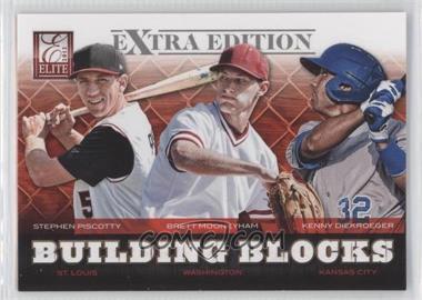 2012 Elite Extra Edition - Building Blocks Trio #10 - Brett Mooneyham, Stephen Piscotty, Kenny Diekroeger