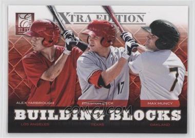 2012 Elite Extra Edition - Building Blocks Trio #3 - Alex Yarbrough, Max Muncy, Preston Beck