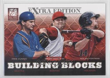 2012 Elite Extra Edition - Building Blocks Trio #4 - Nolan Fontana, Brian Johnson, Mike Zunino