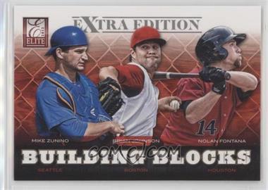 2012 Elite Extra Edition - Building Blocks Trio #4 - Nolan Fontana, Brian Johnson, Mike Zunino