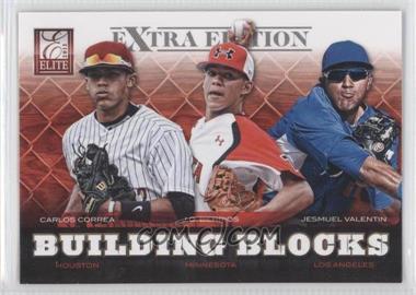 2012 Elite Extra Edition - Building Blocks Trio #6 - Carlos Correa, J.O. Berrios, Jesmuel Valentin