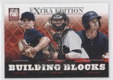 2012 Elite Extra Edition - Building Blocks Trio #9 - Austin Aune, Nathan Mikolas, Peter O'Brien