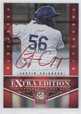 2012 Elite Extra Edition - Prospects Autographs - Red Ink [Autographed] #168 - Justin Chigbogu /25
