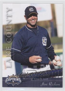 2012 Grandstand Lake County Captains - [Base] #33 - Jim Rickon