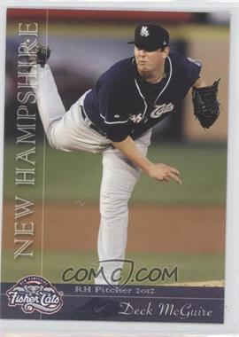 2012 Grandstand New Hampshire Fisher Cats - [Base] #NoN - Deck McGuire