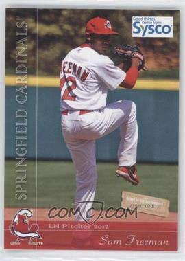 2012 Grandstand Sysco Springfield Cardinals - [Base] #12.2 - Sam Freeman