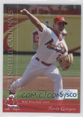 2012 Grandstand Sysco Springfield Cardinals - [Base] #21 - Scott Gorgen