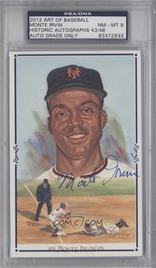 2012 Historic Autographs Art of Baseball - Autographed Art Postcards #N/A - Monte Irvin /48 [PSA/DNA Certified Auto]
