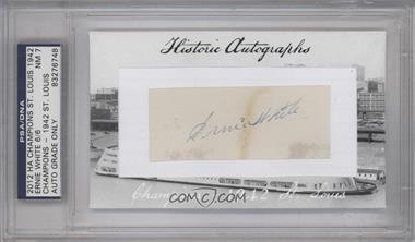 2012 Historic Autographs Champions Cut Autographs - [Base] - [Autographed] #ERWH - Ernie White [PSA/DNACertifiedAuto]