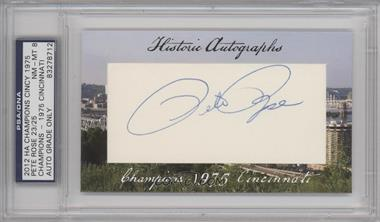 2012 Historic Autographs Champions Cut Autographs - [Base] - [Autographed] #PERO - Pete Rose /25 [PSA/DNACertifiedAuto]