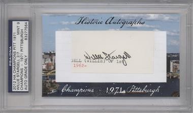 2012 Historic Autographs Champions Cut Autographs - [Base] - [Autographed] #WIST - Willie Stargell [PSA/DNACertifiedAuto]