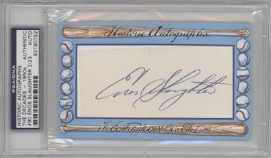 2012 Historic Autographs The Decades - 1950s Edition - Authentic Cut Signature #90 - Enos Slaughter /23 [ENCASED]