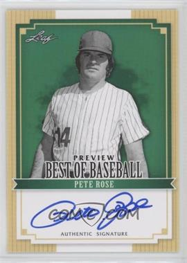 2012 Leaf Best of Baseball - Preview - Autographs [Autographed] #BBP1 - Pete Rose
