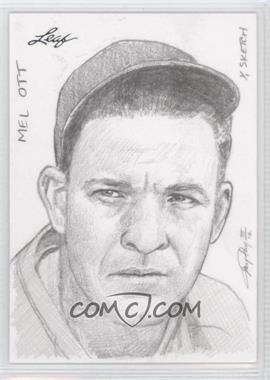 2012 Leaf Best of Baseball - Sketch #MOJP - Mel Ott (Jay Pangan) /1