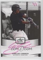 Carlos Correa (Pink Ink /1) #/1