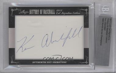 2012 Leaf History of Baseball Cut Signature Edition - [Base] #KEOB - Ken Oberkfell [BGSAuthentic]