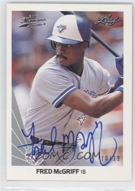2012 Leaf Memories - 1990 Leaf Buy Back - [Autographed] #132 - Fred McGriff /19