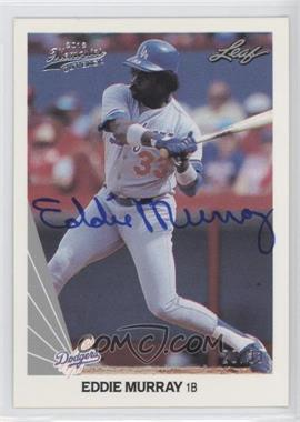 2012 Leaf Memories - 1990 Leaf Buy Back - [Autographed] #181 - Eddie Murray /33