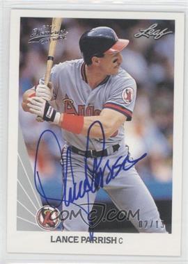 2012 Leaf Memories - 1990 Leaf Buy Back - [Autographed] #195 - Lance Parrish /13