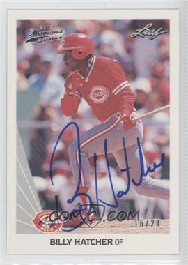 2012 Leaf Memories - 1990 Leaf Buy Back - [Autographed] #241 - Billy Hatcher /28