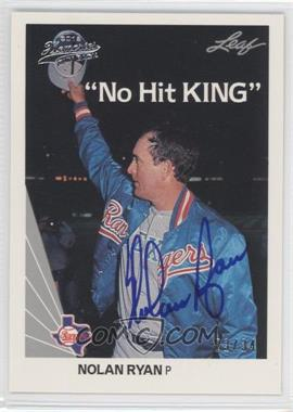 2012 Leaf Memories - 1990 Leaf Buy Back - [Autographed] #265 - Nolan Ryan /34