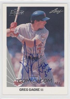 2012 Leaf Memories - 1990 Leaf Buy Back - [Autographed] #302 - Greg Gagne /7