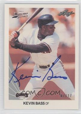 2012 Leaf Memories - 1990 Leaf Buy Back - [Autographed] #305 - Kevin Bass /17
