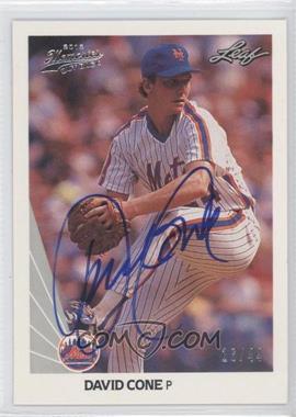 2012 Leaf Memories - 1990 Leaf Buy Back - [Autographed] #40 - David Cone /44