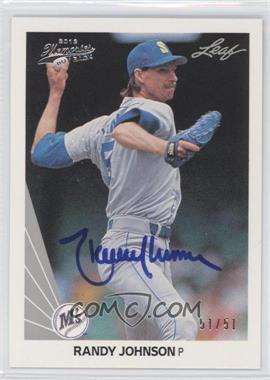 2012 Leaf Memories - 1990 Leaf Buy Back - [Autographed] #483 - Randy Johnson /51