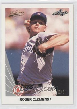 2012 Leaf Memories - 1990 Leaf Buy Back - Gold Foil #12 - Roger Clemens /5