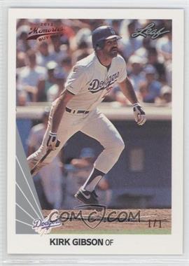 2012 Leaf Memories - 1990 Leaf Buy Back - Red Foil #173 - Kirk Gibson /1