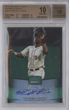 2012 Leaf Metal Draft - [Base] - Green #BA-MO2 - Marcell Ozuna /10 [BGS10]