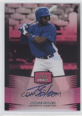 2012 Leaf Metal Draft - [Base] - Pink #BA-JS1 - Jorge Soler /25