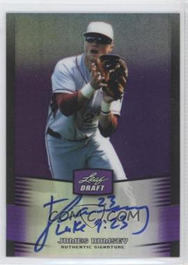 2012 Leaf Metal Draft - [Base] - Purple #BA-JR1 - James Ramsey /25