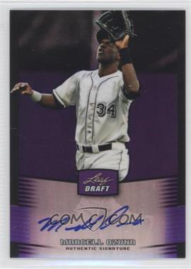 2012 Leaf Metal Draft - [Base] - Purple #BA-MO2 - Marcell Ozuna /25