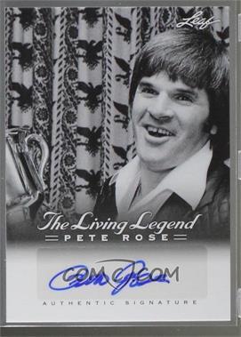 2012 Leaf Pete Rose The Living Legend - Autographs #AU-33 - Pete Rose
