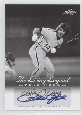 2012 Leaf Pete Rose The Living Legend - Autographs #AU-38 - Pete Rose