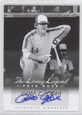 2012 Leaf Pete Rose The Living Legend - Autographs #AU-45 - Pete Rose