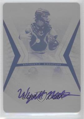 2012 Leaf Ultimate Draft - [Base] - Printing Plate Black #BA-WMI - Wyatt Mathisen /1