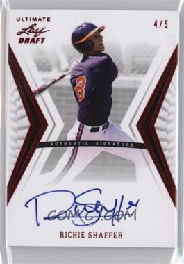 2012 Leaf Ultimate Draft - [Base] - Red #BA-RS1 - Richie Shaffer /5