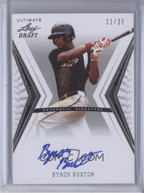 2012 Leaf Ultimate Draft - Base Autographs - Silver #BA-BB1 - Byron Buxton /25